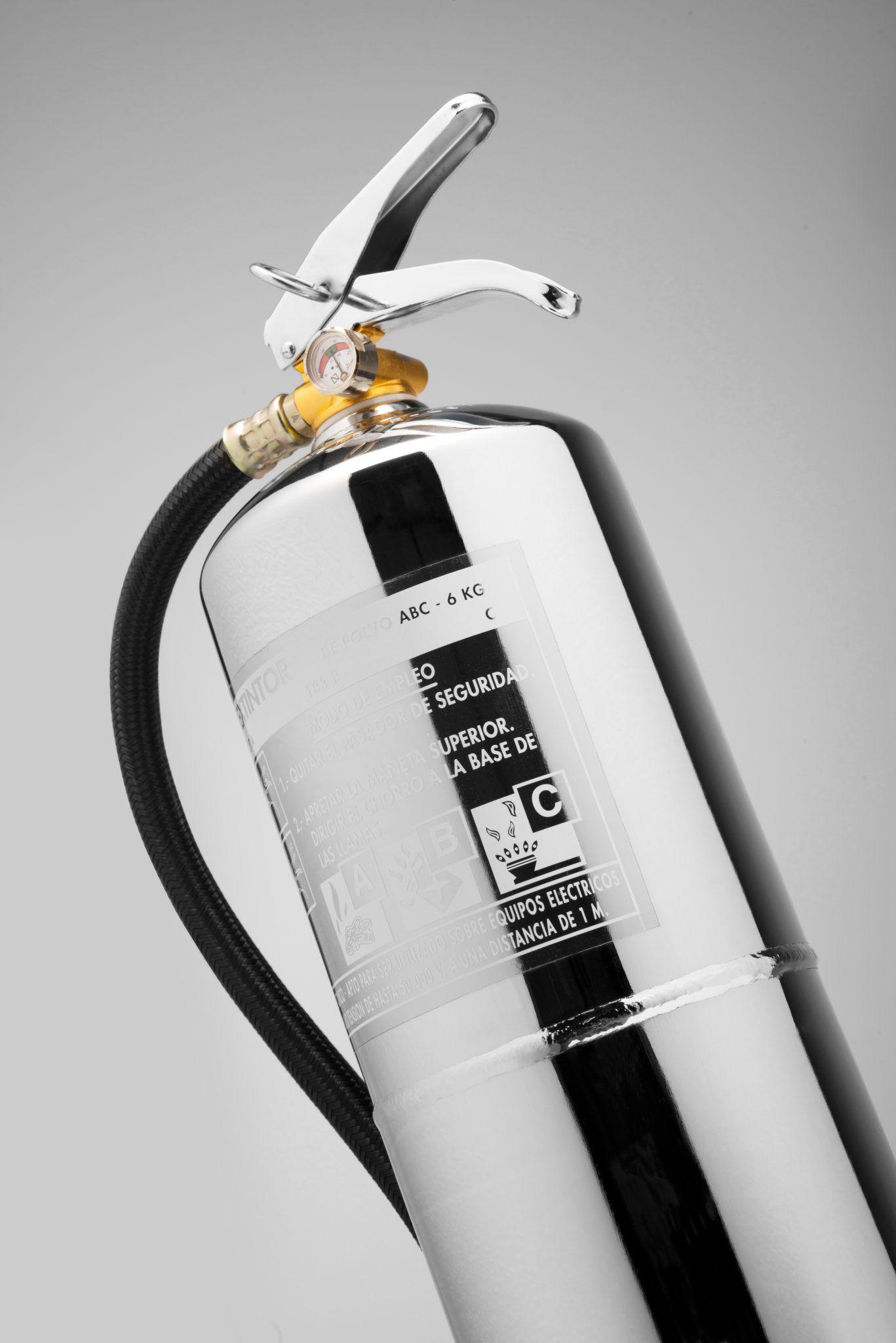 extintor cromado